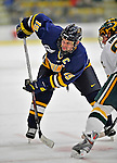 15 February 2008: Merrimack College Warriors' forward and team captain Derek Pallardy, a Senior from Chesterfield, MO, in action against the University of Vermont Catamounts at Gutterson Fieldhouse in Burlington, Vermont. The Catamounts defeated the Warriors 4-1 in the first game of their 2-game weekend series...Mandatory Photo Credit: Ed Wolfstein Photo