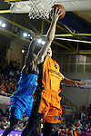 Montakit Fuenlabrada's Alex Llorca (r) and Alba Berlin's Dominique Johnson during Eurocup, Regular Season, Round 6 match. November 16, 2016. (ALTERPHOTOS/Acero)