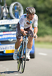 SITTARD, NETHERLANDS - AUGUST 16: Davide Appollonio of Italy riding for AG2R La Mondiale competes during stage 5 of the Eneco Tour 2013, a 13km individual time trial from Sittard to Geleen, on August 16, 2013 in Sittard, Netherlands. (Photo by Dirk Markgraf/www.265-images.com)