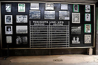 Lineup board at Rickwood Field, the oldest surviving professional baseball park in the United States, first opening on August 18, 1910, as home for the Birmingham Barons.  Image taken on April 16, 2013 in Birmingham, Alabama.  (Mike Janes/Four Seam Images)