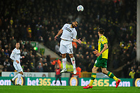 Cameron Carter-Vickers of Swansea City in action during the Sky Bet Championship match between Norwich City and Swansea City at Carrow Road in Norwich, England, UK. Friday 08 March 2019