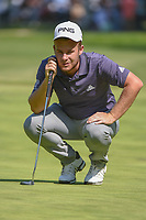 Tyrell Hatton (ENG) lines up his putt on 9 during round 4 of the World Golf Championships, Mexico, Club De Golf Chapultepec, Mexico City, Mexico. 3/4/2018.<br /> Picture: Golffile | Ken Murray<br /> <br /> <br /> All photo usage must carry mandatory copyright credit (&copy; Golffile | Ken Murray)