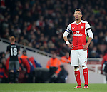Arsenal's Kieran Gibbs looks on dejected during the EFL Cup match at the Emirates Stadium, London. Picture date October 30th, 2016 Pic David Klein/Sportimage