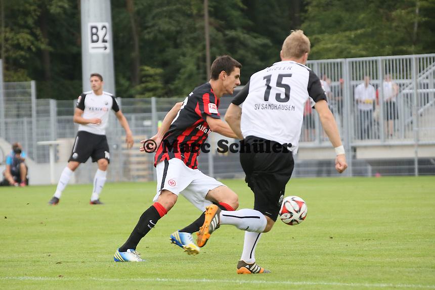 Johannes Flum (Eintracht) gegen Alexander Bieler (SVS)