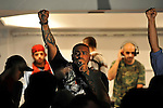 &quot;Massiv&quot; (Wasim Taha), a German Hip Hop artist, performs in front of Palestinian audience in Nablus, West Bank, during a Hip Hop concert made of European-Palestinian artists. He is the son of Palestinian refugees.<br />