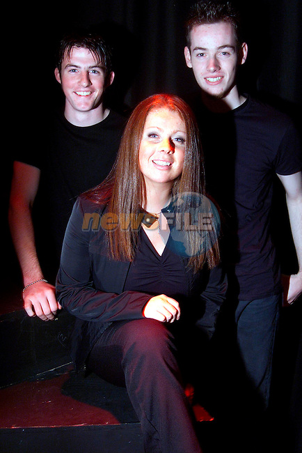 Ciaran Dowd, Kelly Kierans and Ben McDonnell of Upstate Theatre at thier production 'Epic' in the Droichead Arts Centre..Picture: Paul Mohan/Newsfile