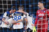 Remo Freuler of Atalanta celebrates with team mates after scoring a goal<br /> Napoli 30-10-2019 Stadio San Paolo <br /> Football Serie A 2019/2020 <br /> SSC Napoli - Atalanta BC<br /> Photo Cesare Purini / Insidefoto