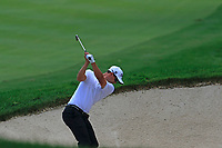 Adam Scott (AUS) plays his 2nd shot from a fairway bunker on the 10th hole during Saturday's Round 3 of the WGC Bridgestone Invitational 2017 held at Firestone Country Club, Akron, USA. 5th August 2017.<br /> Picture: Eoin Clarke | Golffile<br /> <br /> <br /> All photos usage must carry mandatory copyright credit (&copy; Golffile | Eoin Clarke)