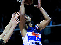 Mika Vukona in action during the national basketball league match between Wellington Saints and Nelson Giants at TSB Bank Arena in Wellington, New Zealand on Thursday, 26 July 2018. Photo: Dave Lintott / lintottphoto.co.nz