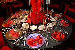 A table at the American Heart Association Heart Ball at the Hilton Americas Houston Saturday Feb 07, 2009.(Dave Rossman/For the Chronicle)
