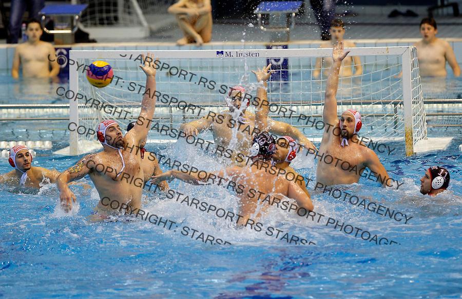 Vaterpolo play off waterpolo, final game, finale, Crvena Zvezda Red Star - Radnicki Kragujevac 10.5.2014. Saturday May 10. (photo: Pedja Milosavljevic / thepedja@gmail.com / +381641260959)