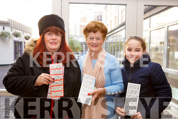 Attending the Caherleaheen School Bingo in the Rose Hotel on Sunday last, l-r, Ann Thompson (Spa Rd), Poppy Cregan (Mitchells Court) and Lily Collins (Kevin Barrys Villas).