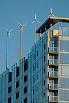 Rooftop Wind Turbine Power on Indigo @ Twelve West, Portland, Oregon