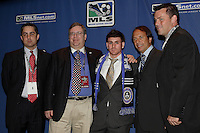 Colorado Rapids VP Jeff Plush, GM Charlie Wright, first round draft pick Nico Colacula, Head Coach Fernando Clavijo, and assistant John Murphy during the MLS SuperDraft at the Indiana Convention Center, Indianapolis, IA, on Jan 12, 2007.