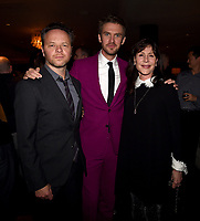 "LOS ANGELES, CA - APRIL 2: Creator/Executive Producer/Writer/Director Noah Hawley, Dan Stevens, and Executive Producer Lauren Shuler Donner attend the party for the season two premiere of FX's ""Legion"" at the Soho House on April 2, 2018 in Los Angeles, California. (Photo by Frank Micelotta/FX/PictureGroup)"