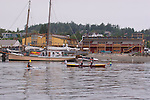 Open water racing, North American Open Water Championship, racing, competition, Northwest Maritime Center, Port Townsend, Washington State, Pacific Northwest, Puget Sound, USA, Mari Friend, Ann Wiltshire, 27, PT Crewsers, 2X Werry,