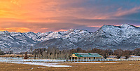 Looking at the eastern front of the Wasatch Mountains from Heber City, UT.