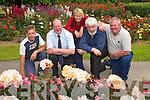 FLOWER FESTIVAL: Getting.ready for the Fe?ile na.mBlath Garden Festival.are l-r: Dan Conway (gardener),.John Griffin,.(development officer),.Lorna Enright (gardener),.Johnny Wall (chairman,.Fe?ile na mBlath) and.Brendan Enright (chief.gardener).
