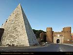 Pyramid of Cestius 12 BC Porta San Paolo Aurelian Walls Rome