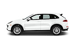 Car Driver side profile view of a 2016 Porsche Cayenne Diesel 5 Door SUV Side View