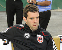 Assist coach Ben Olsen of D.C. United during an MLS match against the New England Revolution on April 3 2010, at RFK Stadium in Washington D.C.