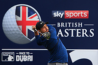 Alexander Levy (FRA) on the 2nd tee during Round 3 of the Sky Sports British Masters at Walton Heath Golf Club in Tadworth, Surrey, England on Saturday 13th Oct 2018.<br /> Picture:  Thos Caffrey | Golffile