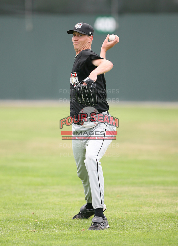 2007:  David Miller of the Tri-City Valley Cats, Class-A affiliate of the Houston Astros, during the New York-Penn League baseball season.  Photo by Mike Janes/Four Seam Images
