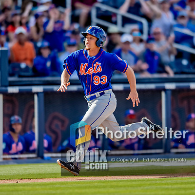 7 March 2019: New York Mets outfielder Braxton Lee in action during a Spring Training Game against the Washington Nationals at the Ballpark of the Palm Beaches in West Palm Beach, Florida. The Nationals defeated the visiting Mets 6-4 in Grapefruit League, pre-season play. Mandatory Credit: Ed Wolfstein Photo *** RAW (NEF) Image File Available ***