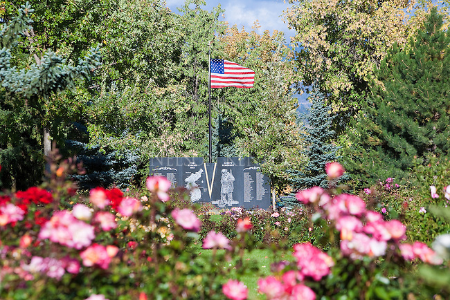 War memorial in Rose Park in Missoula, Montana