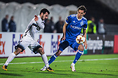 28th September 2017, Partizan Stadium, Belgrade, Serbia; UEFA Europa League group stage, Partizan versus Dynamo Kiev; Midfielder Marko Jankovic of Partizan fights for the ball against Midfielder Denys Garmash of Dynamo Kiev
