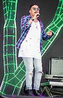 RIO DE JANEIRO, RJ, 13.11.2016 - FESTIVAL-RJ - O cantor Bruno da banda Sorriso Maroto, durante a Maratona Villa Mix Festival no Parque dos Atletas, na zona oeste da cidade do Rio de Janeiro, nesse domingo, 13. (Foto: Jayson Braga / Brazil Photo Press)