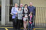 Sharmine Dullaghan with her family at the Confirmation in Holy Family Church Ballsgrove...(Photo credit should read Jenny Matthews www.newsfile.ie)....This Picture has been sent you under the conditions enclosed by:.Newsfile Ltd..The Studio,.Millmount Abbey,.Drogheda,.Co Meath..Ireland..Tel: +353(0)41-9871240.Fax: +353(0)41-9871260.GSM: +353(0)86-2500958.email: pictures@newsfile.ie.www.newsfile.ie.
