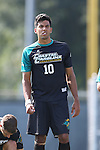 02 September 2013: Coastal Carolina's Pedro Ribeiro (BRA). The University of North Carolina Tar Heels hosted the Coastal Carolina University Chanticleers at Fetzer Field in Chapel Hill, NC in a 2013 NCAA Division I Men's Soccer match. UNC won the game 4-0.