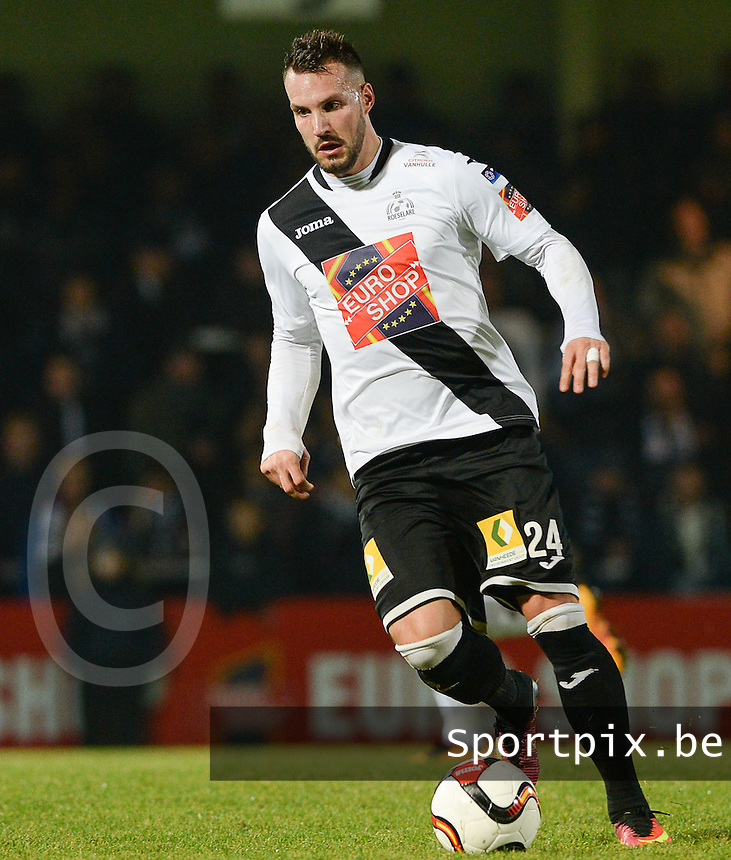 20161217 - ROESELARE , BELGIUM : Roeselare's Mathieu Cornet pictured during the Proximus League match of D1B between Roeselare and Cercle Brugge, in Roeselare, on Saturday 17 December 2016, on the day 20 of the Belgian soccer championship, division 1B. . SPORTPIX.BE | DAVID CATRY