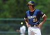 Brian Morrell #23, Shoreham-Wading River pitcher, smiles as he stands on second base during the Class A varsity baseball Long Island Championship against Wantagh at SUNY Old Westbury on Saturday, June 3, 2017.