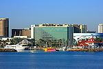 A view of the Long Beach Waterfront California ,from the Catalina Express Terminal.
