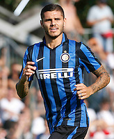 Mauro Emanuel Icardi<br /> italian Prseason soccer match between FC inter e Carpi , at Stadium of Rischione di Brunico Italy July 15, 2015