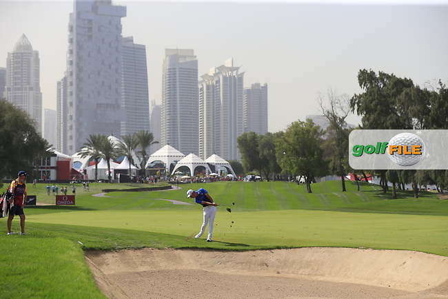 Lucas Herbert (AUS) on the 1st fairway during Round 4 of the Omega Dubai Desert Classic, Emirates Golf Club, Dubai,  United Arab Emirates. 27/01/2019<br /> Picture: Golffile | Thos Caffrey<br /> <br /> <br /> All photo usage must carry mandatory copyright credit (© Golffile | Thos Caffrey)