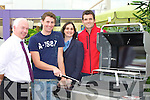 BAR-B-QUE: Gearoid O'Sullivan, Spa, winner of the Tralee Credit Union Webber Genesis Bar B Que, sponsored by Ballyseedy Home and Outdoor Living, receives his prize on Thursday. L-r: Fintan Ryan and Suzanne Ennis (Tralee Credit Union), Gearoid O'Sullivan (winner) and Nathan O'Donnell (Ballyseedy Home and Outdoor Living)..