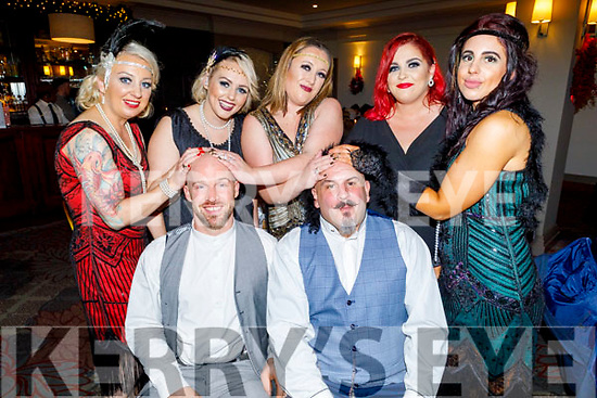 Paradise Hair and Beauty letting their hair down and enjoying their Christmas party in the Ashe Hotel on Saturday.<br /> Seated l to r: John Turner, Russell Aslett, <br />  Back l to r: Rachel Aslett, Romie Birdthistle, Lorraine McGarry, Jennifer O'Brien and Lucy Reynolds.