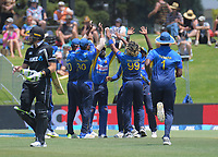 Martin Guptill walks off after being dismissed for 13 during the One Day International cricket match between NZ Black Caps and Sri Lanka at Mount Maunganui, New Zealand on Saturday, 5 January 2019. Photo: Dave Lintott / lintottphoto.co.nz