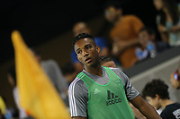 SAN JOSE, CA - AUGUST 31: Danny Hoesen of the San Jose Earthquakes during a Major League Soccer (MLS) match between the San Jose Earthquakes and the Orlando City SC  on August 31, 2019 at Avaya Stadium in San Jose, California.