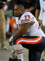 Oct. 16, 2006; Glendale, AZ, USA; Chicago Bears defensive tackle (70) Alfonso Boone against the Arizona Cardinals at University of Phoenix Stadium in Glendale, AZ. Mandatory Credit: Mark J. Rebilas