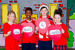 Glow Hearts 4 Crumlin - kormelia Lemnaska, Togor Silong, Zac Boyle and Taylor J Morcambe from CBS primary Tralee supporting Crumlin by wearing red on Thursday