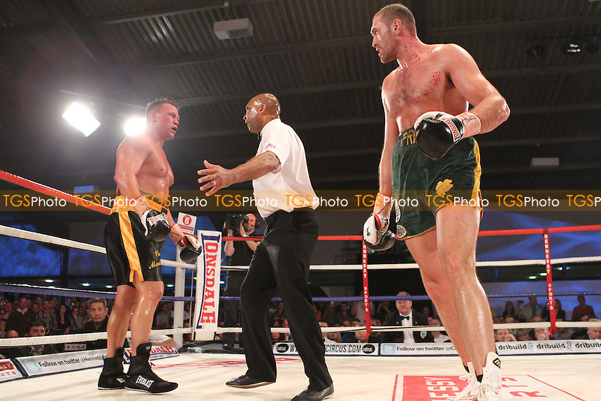 Tyson Fury vs Vinny Maddalone vs  in a boxing contest at the Hand Arena, Clevedon, Somerset, promoted by Hennessy Sports - 07/07/12 - MANDATORY CREDIT: Chris Royle/TGSPHOTO - Self billing applies where appropriate - 0845 094 6026 - contact@tgsphoto.co.uk - NO UNPAID USE..