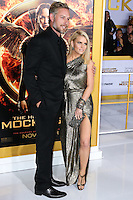LOS ANGELES, CA, USA - NOVEMBER 17: Eric Johnson, Jessica Simpson arrive at the Los Angeles Premiere Of Lionsgate's 'The Hunger Games: Mockingjay, Part 1' held at Nokia Theatre L.A. Live on November 17, 2014 in Los Angeles, California, United States. (Photo by Xavier Collin/Celebrity Monitor)