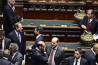 Roma, 18 Aprile 2013.Camera dei Deputati.Votazione del Presidente della Repubblica a camere riunite. PierLuigi Bersani e Angelino Alfano