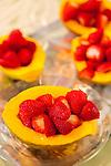 Haiku Cannery Inn, Haiku, Maui, Hawaii. Island grown papaya and Haiku strawberries.