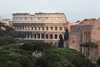 Colosseum or Flavian Amphitheatre, c70-82 AD, Rome, Italy. Picture by Manuel Cohen