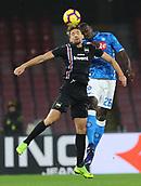 2nd February 2019, Stadio San Paolo, Naples, Italy; Serie A football, Napoli versus Sampdoria; Adam Ounas of Napoli challanges Kalidou Koulibaly of Napoli